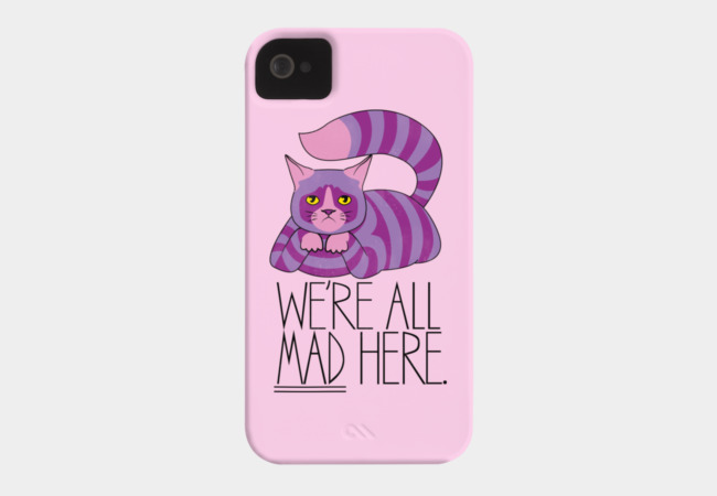 Grumpy Cheshire Phone Case - Design By Humans