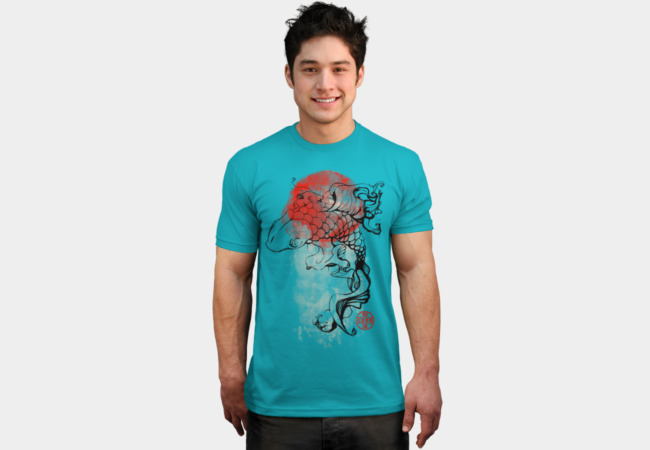 Ink Koi T-Shirt - Design By Humans