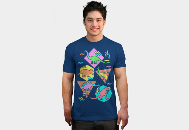 Nineties Dinosaur Pattern T-Shirt - Design By Humans