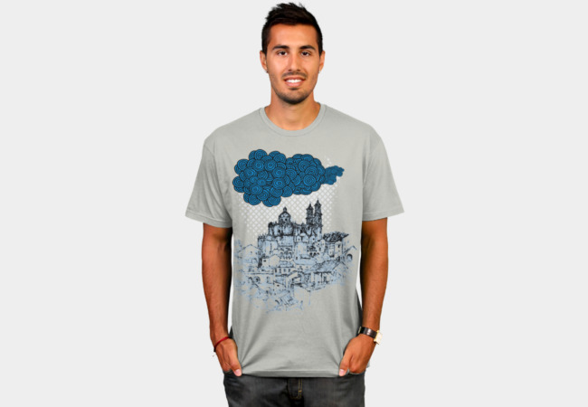 Rainy Castle T-Shirt - Design By Humans