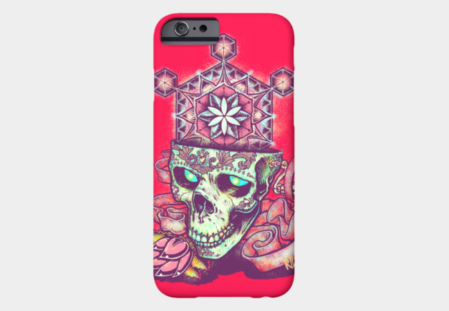 Flower of Life Skull Variant Phone Case - Design By Humans