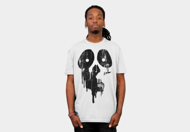 Black paint skull T-Shirt - Design By Humans