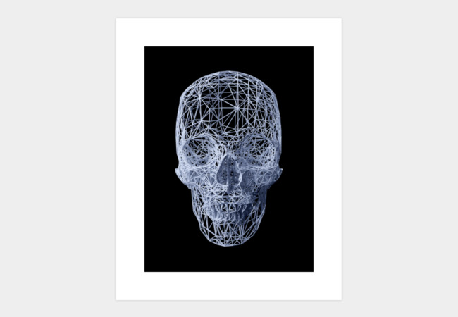 Skull wireframe Art Print - Design By Humans