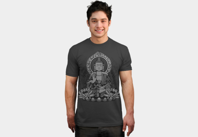 Siddhartha Buddha Halftone T-Shirt - Design By Humans