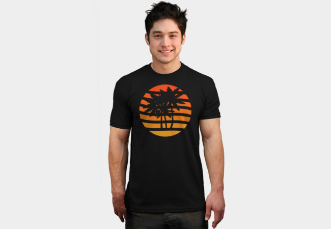 Palm Trees Grunge Sunset T-Shirt - Design By Humans