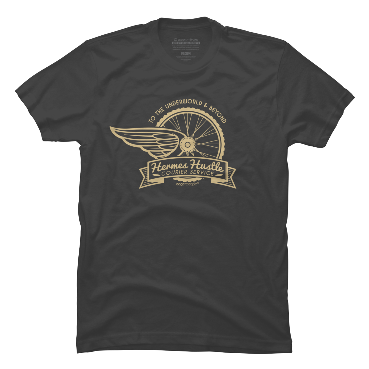 Hermes Hustle Courier Service Men's T-Shirt Hermes Hustle Courier Service is a cozy ring spun cotton Grey shirt designed by eagerpeople. This Men's shirt design is featured in bicycle, art styles, retro, themes, transportation, typography, vintage designs. Shop DesignByHumans.com for the best selection of cool graphic tees, tank tops, sweatshirts, notebooks, phone cases, and art prints.