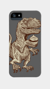 Velociraptors love cupcakes! Phone Cases