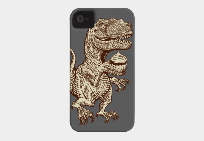 Velociraptors love cupcakes! Phone Case - Design By Humans