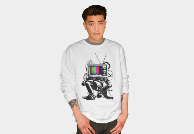 Retro TV Colour Test Man Sweatshirt - Design By Humans