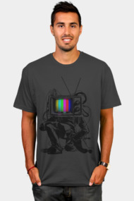 Retro TV Colour Test Man
