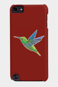 Humming bird animal triangle low polygon style