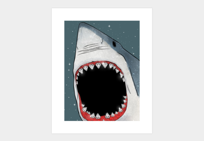Diamonds Are a Shark's Best Friend Art Print - Design By Humans