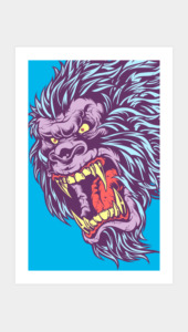 SASQUATCH FRENZY! Art Prints