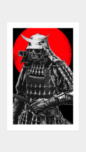 Samurai warrior Art Prints