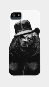 Black Bear Phone Cases