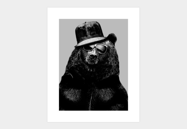 Black Bear Art Print - Design By Humans