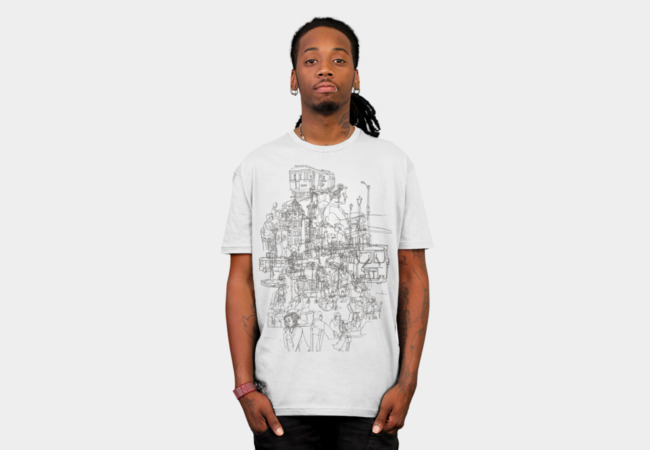 interlocking lives, lines, and transit lanes T-Shirt - Design By Humans